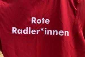 Schriftzug Rote Radler